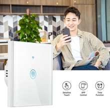 Wi fi сенсорный выключатель света типа умный дом панель стандартное