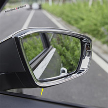 Yimaautotrims Chrome Rearview Mirror Rain Shade Rainproof Blades Eyebrow Cover Trim For VW Volkswagen T-Roc T Roc 2019 2020(China)