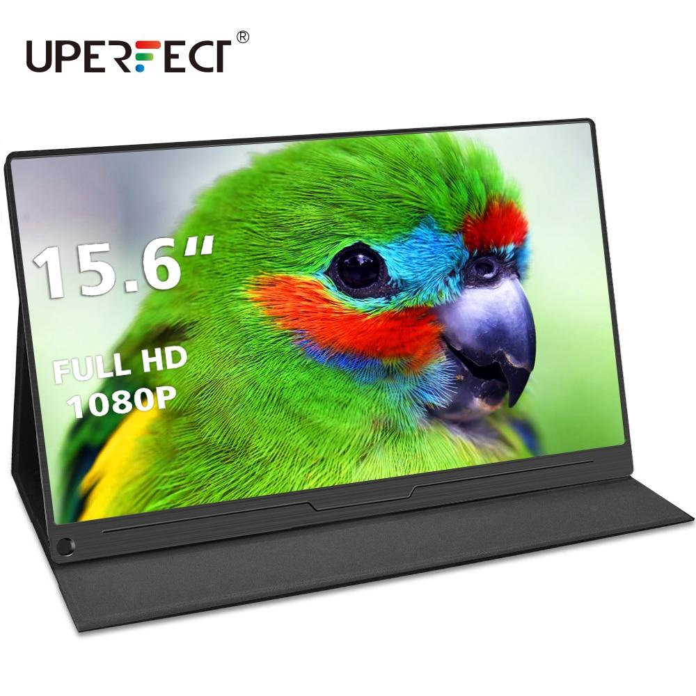 Uperfect 15.6 Polegada fhd monitor hdr 1920x1080 ips hdmi tipo-c tela de exibição portátil gaming monitor ps4 framboesa computador