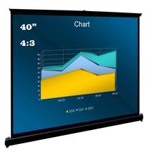 """4"""" дюймовый 4:3 портативный мобильный проекционный экран подставка легкая переносная прочная легко выдвижная система для использования в помещении и на открытом воздухе"""