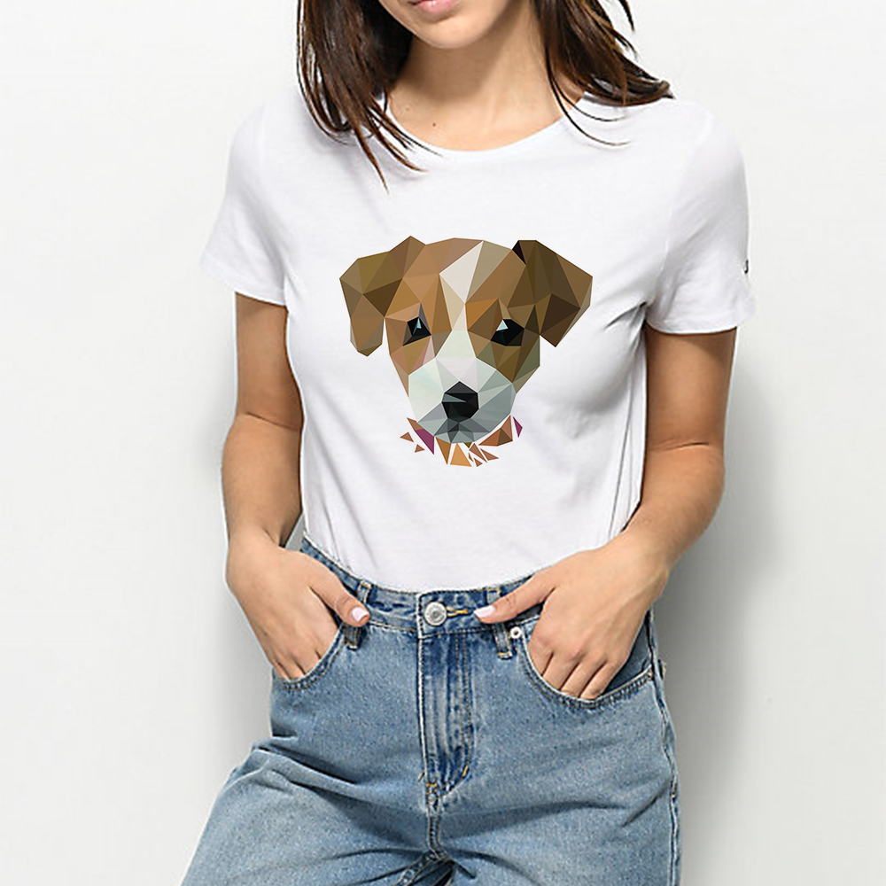 Summer Funny Plus Size Animal Tshirt Harajuku Gorgeous Cute Dog T-shirt Vogue Elegant Cheap Loose Vintage Suit Casual T Shirt