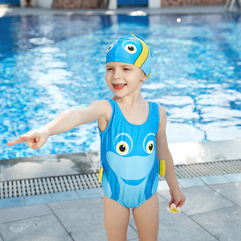 2019 New Style Miss Sunshine KID'S Swimwear Fashion Cartoon Shark Hooded Small CHILDREN'S Women's Beach Hot Springs Bathing Suit