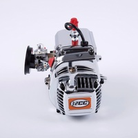 32cc 4 Bolts Chrome Engine for 1/5 Hpi Rovan KM Baja 5b 5t 5sc 4wd Losi 5ive t Rc Car Parts