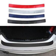 Auto Stamm Pedal Aufkleber Anti kick 3D Carbon Faser Film Auto Hinten Schutz Platte Schutz Für BMW Audi SUV