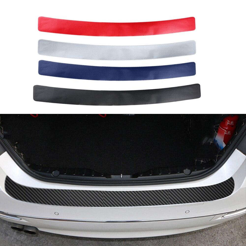 1X 4D Auto Rear Trunk  Protect Decal Carbon Fiber Sticker Car Decorate for Audi