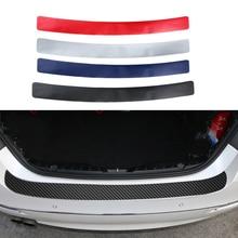 Kofferbak Pedaal Sticker Anti kick 3D Koolstofvezel Film Auto Rear Guard Plaat Bescherming Voor BMW Audi SUV