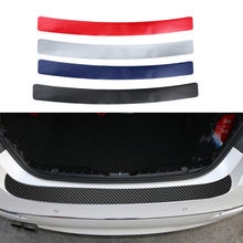 Pegatina de Pedal para maletero de coche, película de fibra de carbono 3D, protección de placa de protección trasera automática para BMW, Audi, SUV