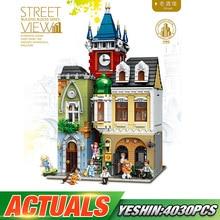 Городской уличный конструктор, игрушки Legoing, MOC, старый город, паб, набор, Сборная модель, детские рождественские игрушки, подарки, строительные блоки, наборы кирпичей