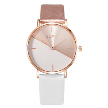 Simple Leather Rose Gold Women Watches Female Dress Clock Luxury Brand Design Quartz Wristwatches image