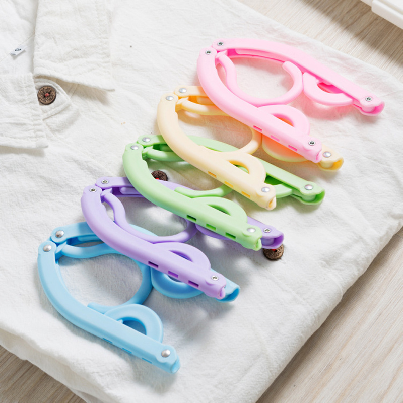Portable Travel Clothes Hanger Folding Hangers Space Saving Travel Laundry Supplies DAG ship in Hangers Racks from Home Garden