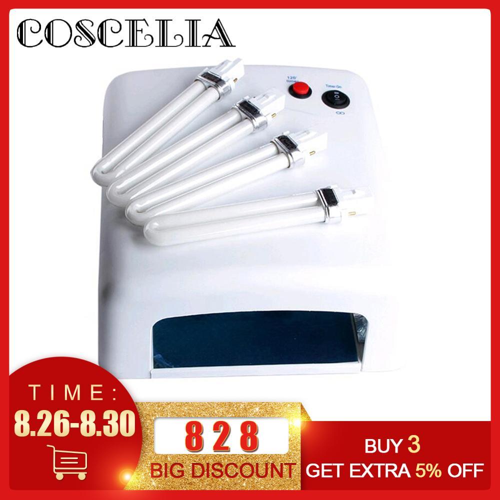 36W Luz Uv Lâmpada Ultravioleta Secador De Cola Para Reparação de Tela Do Telefone Celular Com 4 Pcs 9W Lâmpada Uv luz Uv de cura Para Unha Polonês