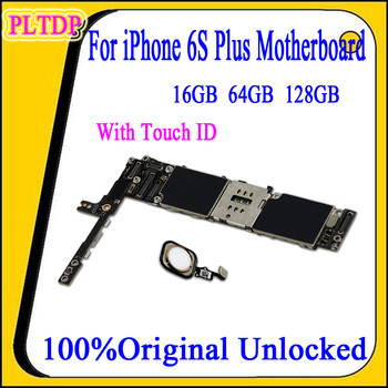For iPhone 6S Plus Motherboard With/No Touch ID 100% Original Unlocked Logic Boards For iPhone 6SP Logic board 16g/64g/128g