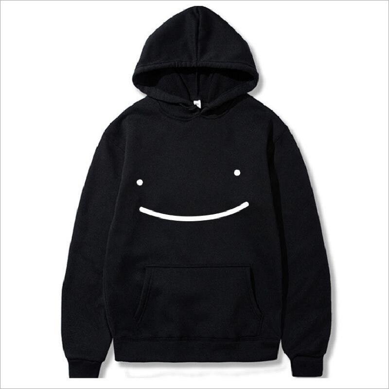 Мужская толстовка с капюшоном Dream Merch, пуловер в стиле Харадзюку со смайликом, уличная одежда унисекс, Повседневная модная куртка оверсайз, ...