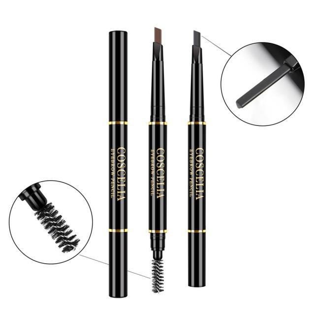 Eyebrow Pencil With Brush Double Ended Eyebrow Pen Waterproof Lasting Brow Tattoo Pen Eye Makeup Pencil Eyebrow Enhancer Pen 4
