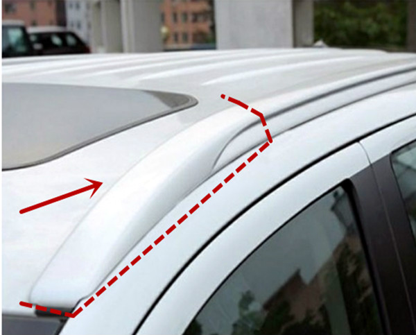 High-quality ABS Chrome For Mitsubishi ASX 2013-2019 Luggage Rack Cover Cover Rack Cover Car styling Accessories