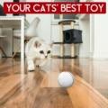 Смарт-интерактивная игрушка для кошек Usb Перезаряжаемые светодиодный светильник 360 градусов самостоятельно вращающийся шар домашних живот...