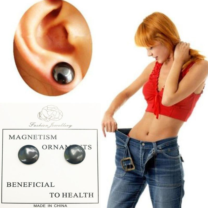 10Pcs/Pair Bio Magnetic Therapy Weight Loss Stud Earrings Slimming Health Care Stimulating Acupoints Magnet Stickers