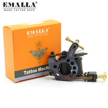 цена на High Quality Coil Tattoo Machine Guns For Lining Shading 10 Warps Iron Handmade Tattoo Machine Gun Free Shipping T