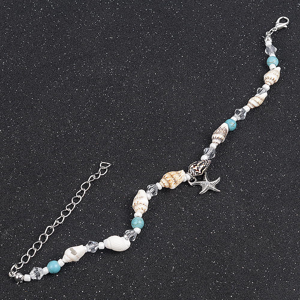 2019 New Simple Boho Women Bead Shell Anklet Ankle Bracelet Barefoot Sandal Beach Foot Jewelry 3