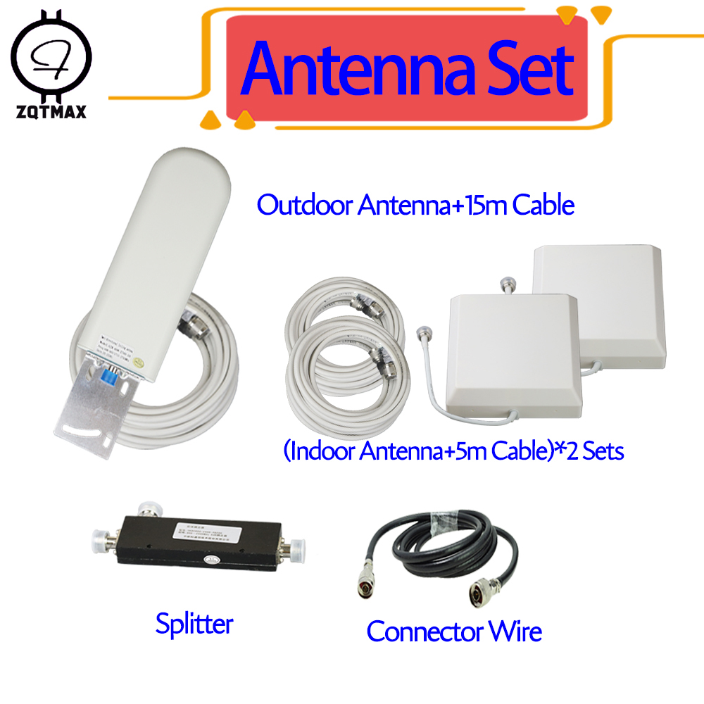 ZQTMAX 2g 3g 4g antenna For gsm mobile signal booster LTE  Cellular Amplifier WCDMA UMTS network to tow room splitter