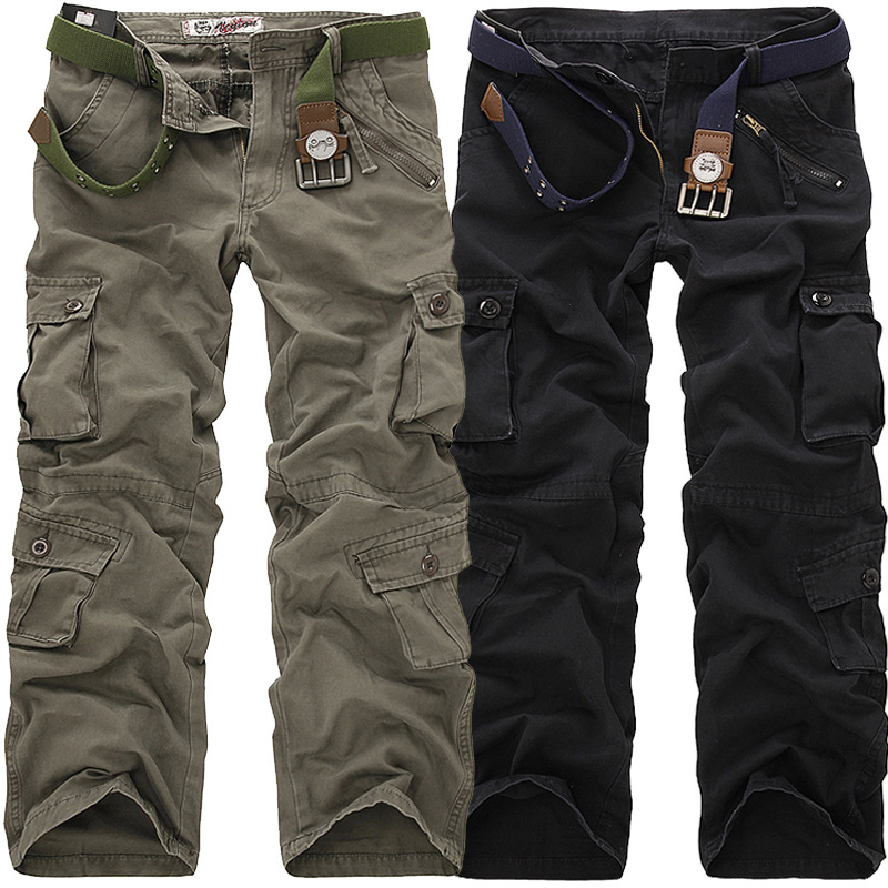 Autumn Clothing New Style MEN'S Overalls Camouflage Large Size Multi-Bag Men's Casual Straight-Leg Trousers Men'S Wear