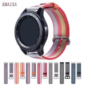 Тканый нейлоновый ремешок gear s3 для samsung Galaxy Watch 46 мм 42 мм активный 1 2 браслет huawei watch GT 2 ремешок 22 мм 20 мм ремешок для часов
