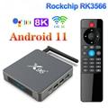 ТВ-приставка X96 X6, Android 11, 8 ГБ ОЗУ, 128 ГБ, Rockchip RK3566, поддержка 4K 2T2R MIMO, двойной Wi-Fi, 1000 м, 4 ГБ, 64 ГБ, 32 ГБ, медиаплеер