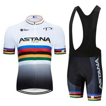 2020 preto astana roupas de ciclismo bicicleta jérsei secagem rápida dos homens roupas verão equipe ciclismo jérsei 9dgel bicicleta shorts conjunto 20