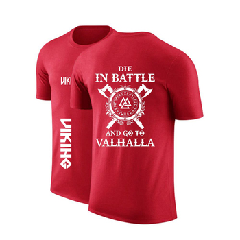2020 Men Custom Odin Viking Die In Battle And Go To Valhalla Round Neck T shirt Decal Shirts Punk Print Casual Tops Sweatshirts 2