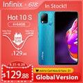 Новая глобальная версия Infinix Горячая 10S NFC 4 ГБ/64 Гб 128 Гб Смартфон 6,82 ''HD + Дисплей 6000 мА/ч, Батарея Helio G85 мобильный телефон