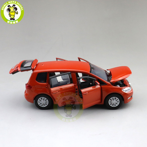Image 5 - 1/32 Jackiekim TOURAN MPV VAN Diecast Model CAR Toys kids Sound Light Pull Back Gifts