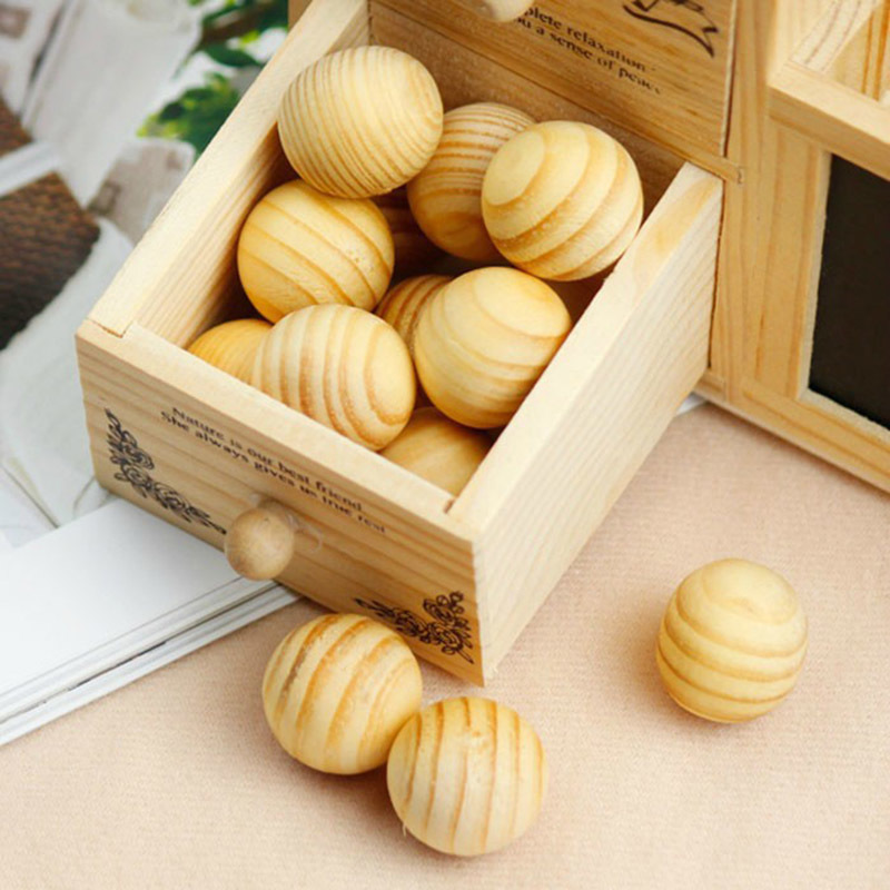 5pcs/bag Wardrobe Pest Control Wooden Mothballs Moth Repellent Prevent Mildew Moistureproof Deworming Fragrant Wood Ball