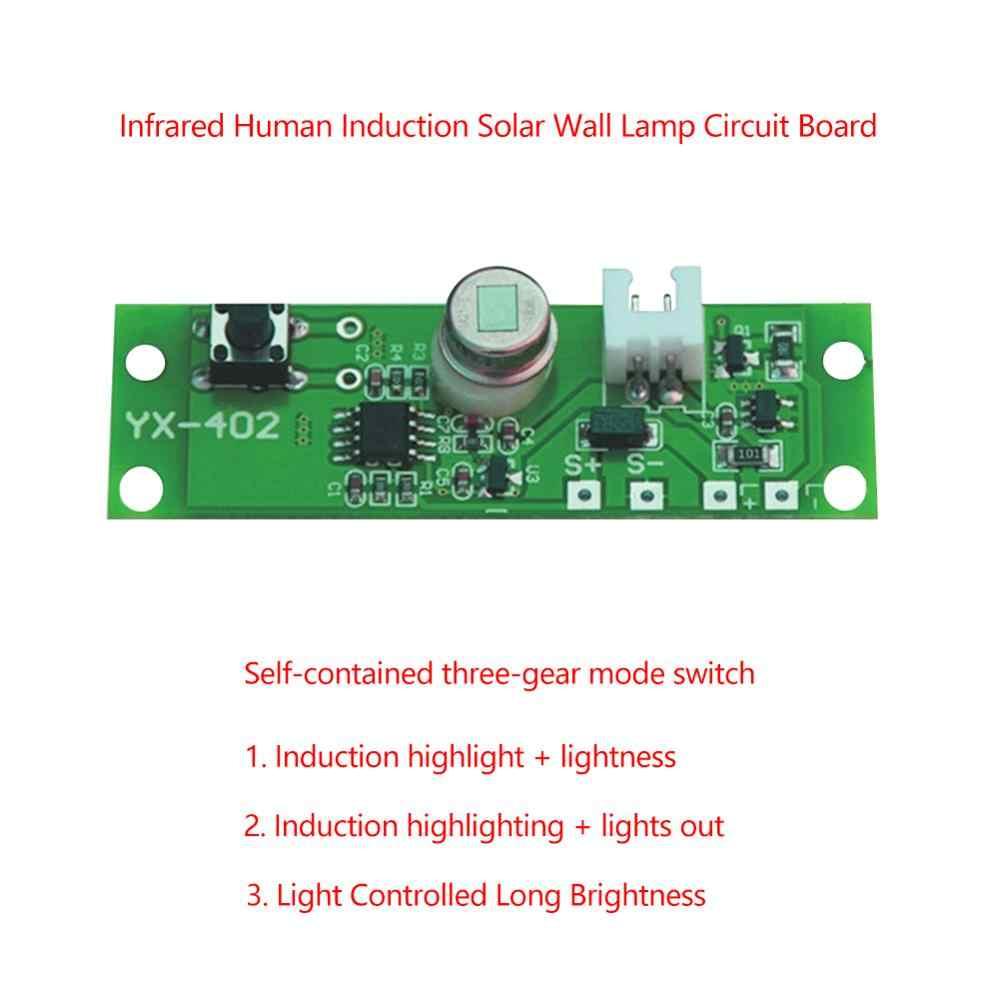 3.7 فولت لتقوم بها بنفسك مجموعات الشمسية مصباح مجلس التحكم الاستشعار ليلة ضوء وحدة تحكم الأشعة تحت الحمراء التعريفي وضع العمل من جسم الإنسان