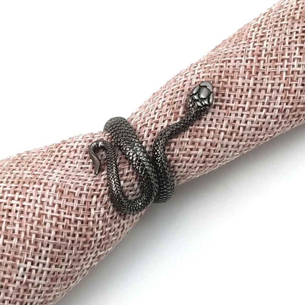 1 шт., новое Европейское кольцо в стиле панк, преувеличенное кольцо в виде змеи, модное Оригинальное стереоскопическое регулируемое кольцо для открытия, ювелирные изделия 5