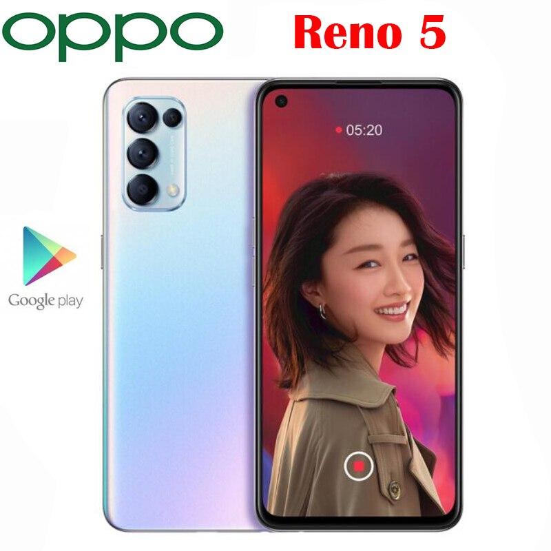 공식 새 원본 OPPO 리노 5 5G 휴대 전화 6.43 인치 OLED 금어초 765G 64.0MP 카메라 안드로이드 11 OS 65W SuperVOOC 4300Mah