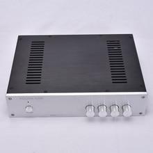 Корпус для усилителя звука KYYSLB 320*70*248 мм, корпус для домашнего усилителя звука, корпус для усилителя звука, полностью алюминиевый корпус для самостоятельной сборки