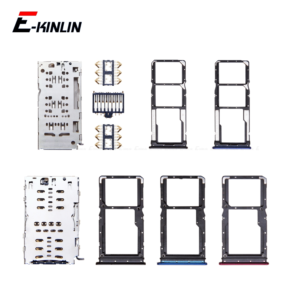 Micro SD / Sim Card Tray Socket Adapter For XiaoMi Redmi 7 Note 7 Pro PocoPhone Poco F1 Connector Holder Slot Reader Container