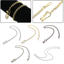 5 Colors Metal Pocket Watch Chain Vintage Alloy Pocket Watch Holder Necklace Chain For Men Women Replacement Watch Chain