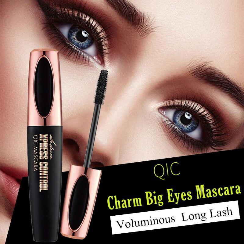 QIC NEW 4D Silk Fiber Lash Mascara rimel Makeup Black Waterproof Lengthening mascara Volume Express false eyelashes 2