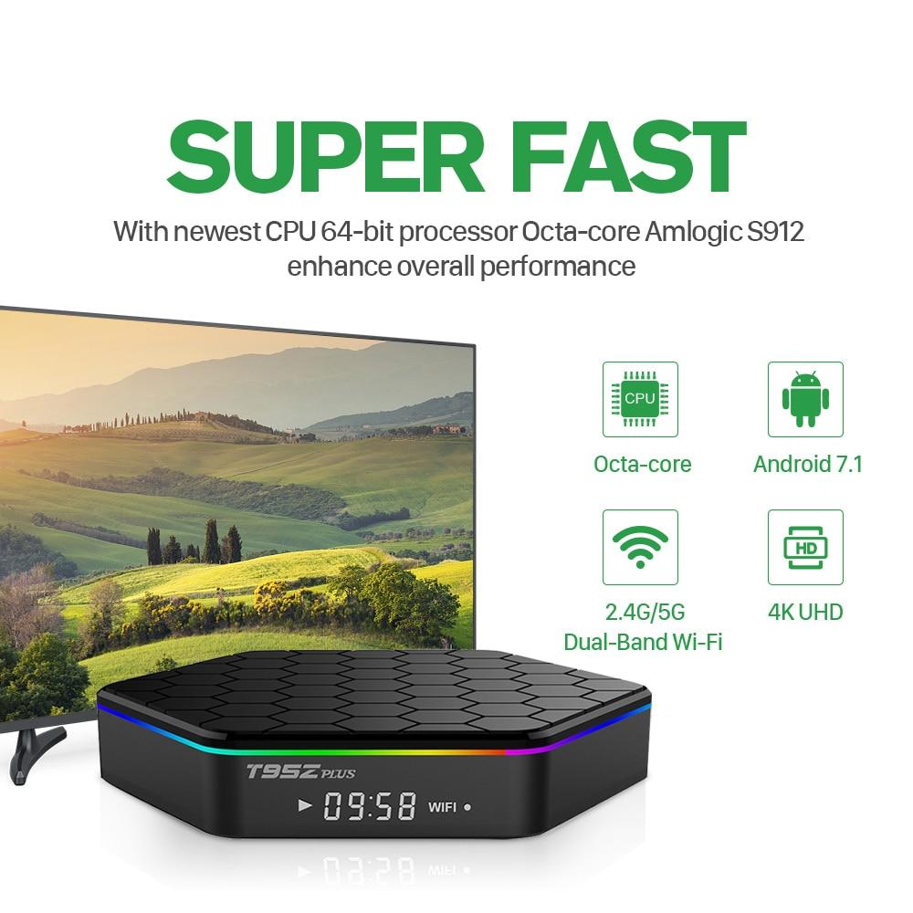 1 jahr QHDTV T95Z Plus IPTV Tunesien Box Android 7.1 Box S912 3GB 32GB S912 Niederlande Belgien Französisch Arabisch IPTV Media Player