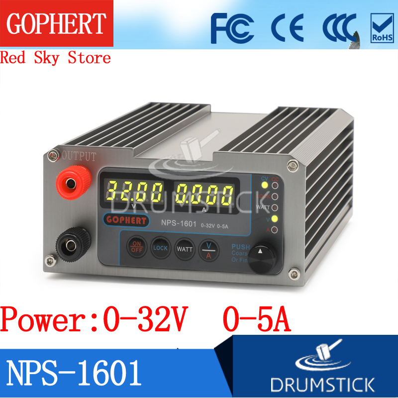 (Ship from Russia) Gophert NEW NPS-1601 32V <font><b>30V</b></font> <font><b>5A</b></font> CPS-3205II Upgraded Version Mini Adjustable Digital <font><b>DC</b></font> <font><b>Power</b></font> <font><b>Supply</b></font> OVP/OCP image