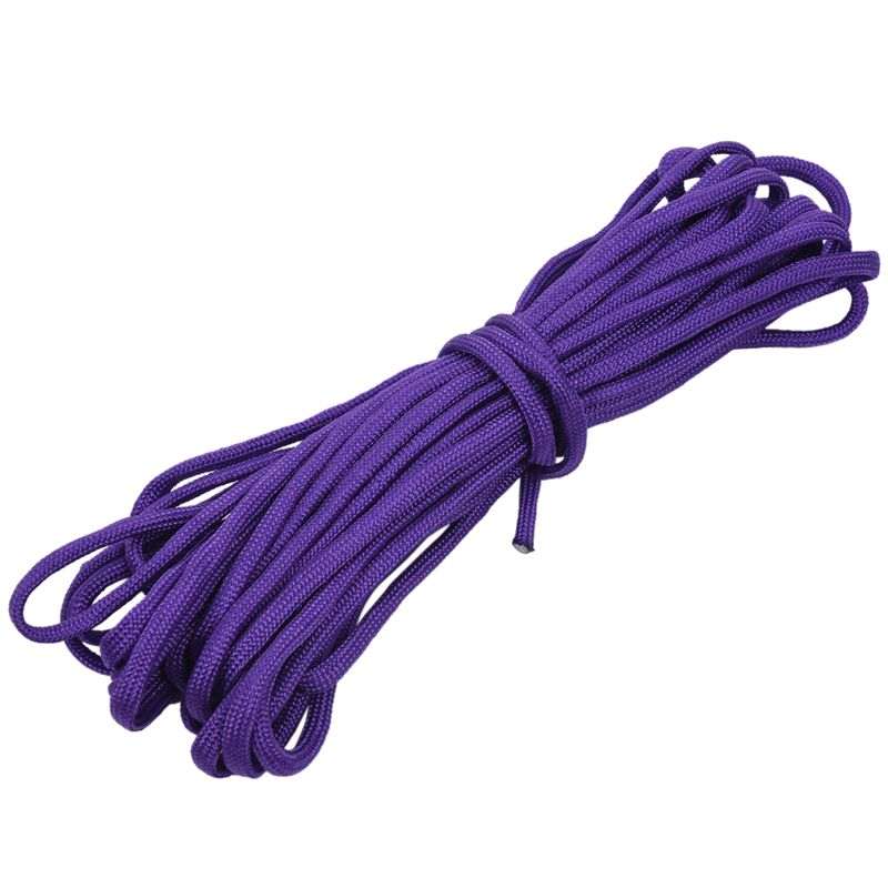 Paracord 550 Parachute Rope 7 Core Strand for Climbing Camping Buckle Rope Purple 50FT