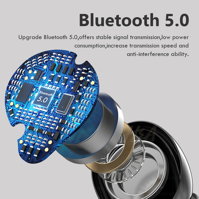 Mini Bluetooth Earphone with LED Power Display 24h Play Time Wireless Headphones Bluetooth Earbud Touch Control Sport Waterproof 2