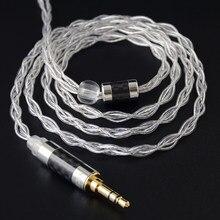 NICEHCK LitzPS 4N Litz pur argent écouteur câble de mise à niveau 3.5/2.5/4.4mm MMCX/NX7 Pro/QDC/0.78mm 2Pin pour DB3 KXXS LZ A7 ST-10s