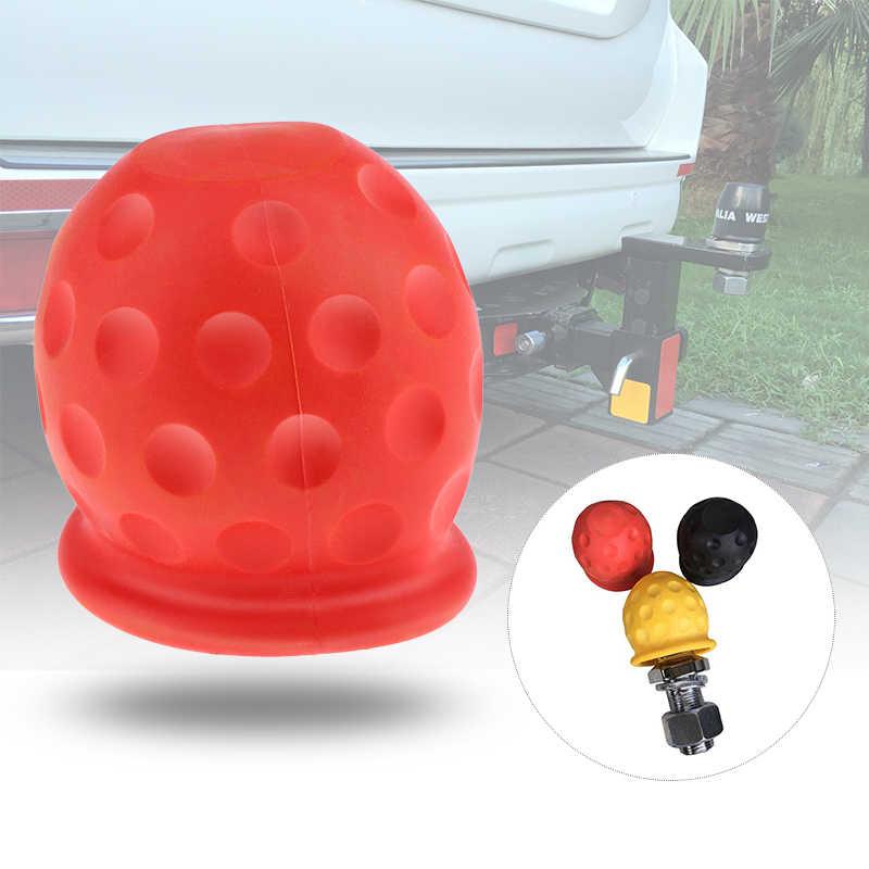 Universele 50 Mm Trekhaak Bal Cover Cap Towing Trekhaak Caravan Trailer Towball Beschermen Voor Auto Truck Trailer Rv Camper atv 3 Kleuren