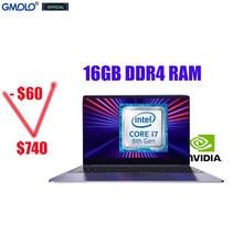 GMOLO 15,6 zoll Core I7 8th Gen 8550U Geforce MX150 16GB/8GB DDR4 RAM 512GB/256GB SSD + Optional 1TB HDD Gaming Laptop Computer