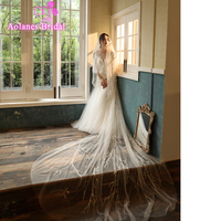 Handmade Full Beads Bridal Veil With Comb One Layer Wedding Veil Ivory And Champange Tulle Lace Veils For Wedding Accessories