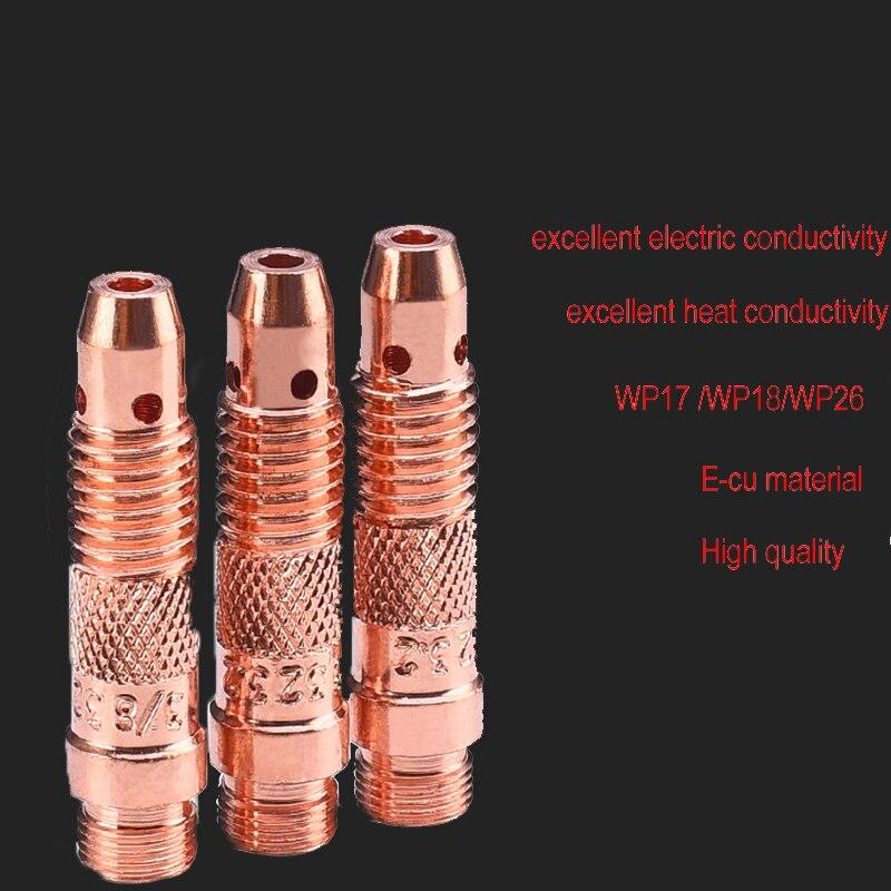 WP18 WP17 WP26 Argon Wig-schweißbrenner Verbrauchs Wolfram Elektrode Collet Körper SR17 SR18 SR26 graphit halter collet halter