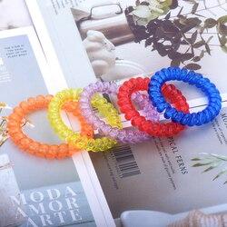 Bracelet de cheveux de couleur variée pour femmes, forme spirale, Bracelet de cheveux élastique téléphone, ligne de fixation de cheveux, corde de cheveux