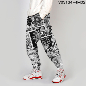 Jojo Bizarre Adventure Jogger Men Streetwear Spring Autumn Sweatpants Anime Casual Trackpants Men Harajuku Pants Fashion Loose 6
